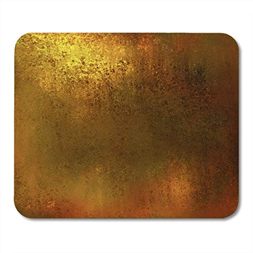 """AOHOT Mauspads Gold Abstract Yellow Warm Brown Color Tone Vintage Earth Earthy Luxury Patina Bronze Brass Mouse Pad Mats 9.5\"""" x 7.9\"""" for Notebooks,Desktop Computers AccessoriesOffice Supplies"""
