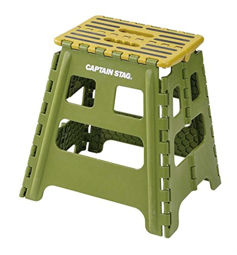 キャプテンスタッグ(CAPTAIN STAG) 踏み台 ステップ 椅子 折りたたみ ステップ Lサイズ グリーン UW-1506
