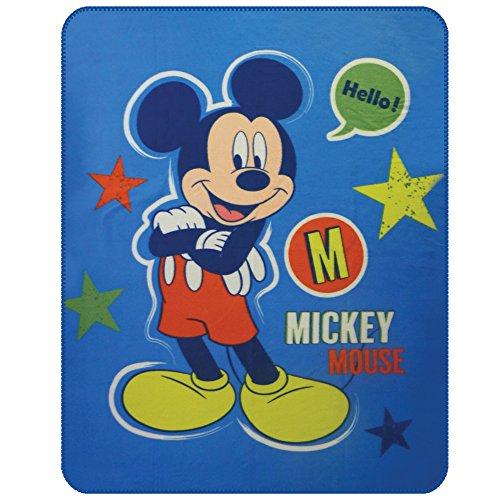 CTI - Disney - Plaid Polaire Mickey Expressions 110x140 Polyester, Blanc, 140 x 110 cm