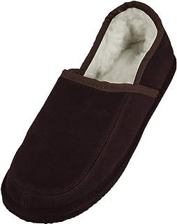 Bushga - Zapatillas de Estar por casa de Ante para Hombre