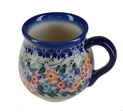 BCV Boleslawiec Pottery – Tazza in ceramica, dipinta a mano, 250 ml, 523-U-008
