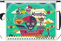 HD デッド写真の背景メキシコのスカルディア・デ・ロス・ムエルトスターコイズ写真の背景メーカープロップカスタマイズの日10x7ft 126