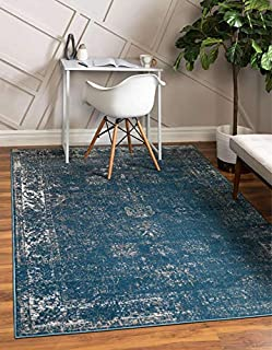 Unique Loom Sofia Collection Area Traditional Vintage Rug, French Inspired Perfect for All Home Décor, 3' 3 x 5' 3 Rectangular, Blue/Ivory (B07CBL92F1)   Amazon price tracker / tracking, Amazon price history charts, Amazon price watches, Amazon price drop alerts