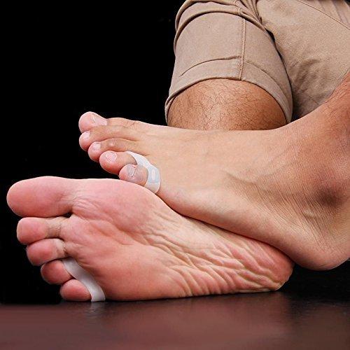 ewinever(R) 3 pares de gel de silicona del pie Separador del dedo Meñique Hallux Valgus Protector de juanete Ajustador