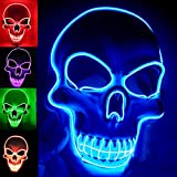 Halloween Mask LED Light up Costumes Scary Mask for Party Supplies Favor