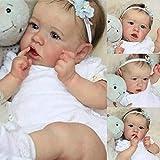 FLJUN 58CM Realistico Full Body Silicone Saskia Reborn Doll Lavabile Reborn Baby Dolls Morbido Touh Regalo di Natale Giocattolo per Bambini