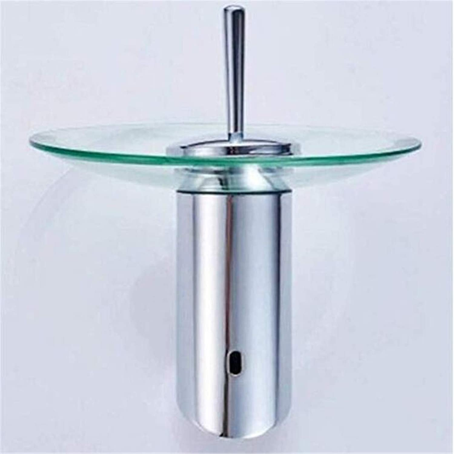 Modern Hot and Cold Vintage Platingfaucets Basin Mixer Waterfall Spout Chrome Finish Bathroom Faucets