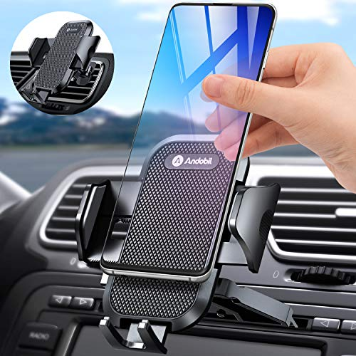 Andobil Car Phone Mount Easy Clamp, Ultimate Hands-Free CD Slot & Air Vent Cell Phone Holder for Car CD Player Compatible for iPhone SE/11 Pro Max Xs/XR/X/8/7 Plus Samsung Galaxy S20/S20+/S10/Note 9