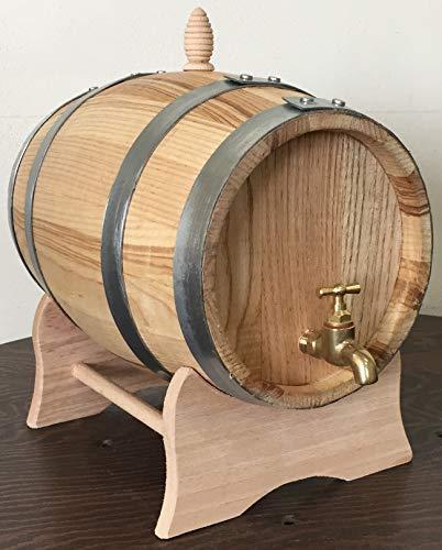 Barril de castaño de 2 litros con grifo de latón