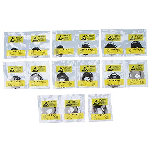 750 Stück Wasserdicht Dichtungsring Dichtungen Set Gummi Ringe Runde Gummiring für Armbanduhr