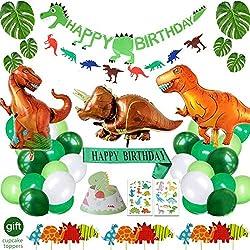 8. Yancan Dinosaur Birthday Decorations Party Supplies (48 pcs)