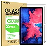 GOZOPO [2 unidades] Protector de pantalla para Lenovo Tab P11(TB-J606F) de 11 pulgadas, película de vidrio templado [resistente a los arañazos] [no para Lenovo Tab P11 Pro 11.5 pulgadas]