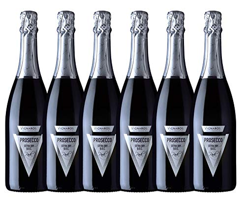 VIGNAROSA vino bianco spumante Prosecco D.O.C. Treviso Extra Dry'Park' - box da 6 bottiglie da 750 ml
