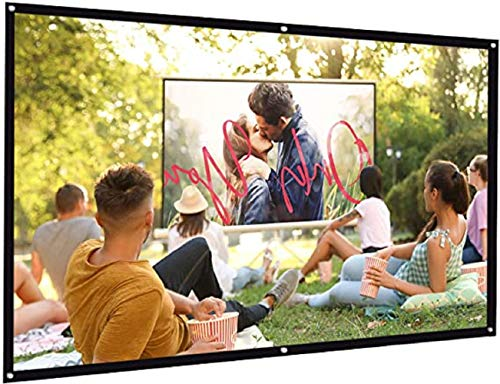 VARWANEO 4:3 Portable Projector Screen Hd Folding Anti-Folding Indoor Outdoor Movie Screen Projector for Home Office Outdoor