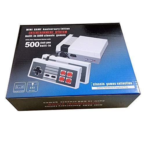 Retro Clásico Family Consola 500 Videojuegos Salida AV Salida Con Dos Controladores