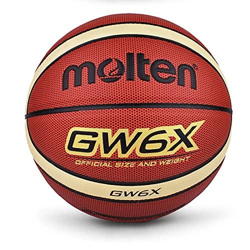Ballon de Baloncesto Balón De Baloncesto Material De La PU Size6 Baloncesto Baloncesto para Mujeres Baloncesto Duradero para Interiores Y Exteriores