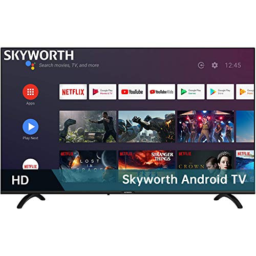 Skyworth E20300 32-Inch 720P HD LED Smart TV with Google Assistant Built-in ( Also work with Alexa ), Android TV with HDMI, WI-FI, USB Inputs