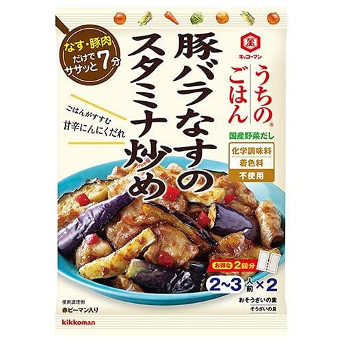 キッコーマン うちのごはん おそうざいの素 豚バラなすのスタミナ炒め 84g×10袋入×(2ケース)
