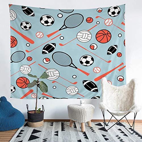 Manta de Pared con de Bola 3Dcolgar en la Pared, debaloncesto, béisbol, Rugby, Juegos, Manta de habitación, tamaño Grande 128 x 79