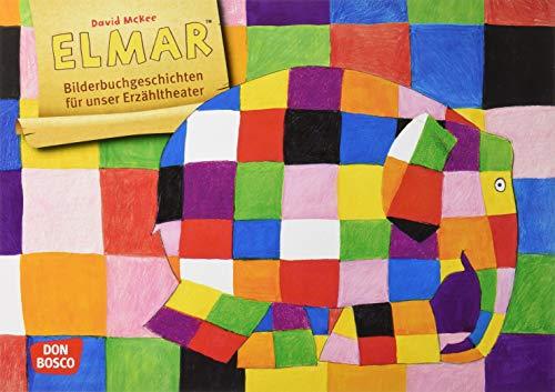 Elmar. Kamishibai Bildkartenset.: Entdecken - Erzählen - Begreifen. Bilderbuchgeschichten für unser Erzähltheater. Bilderbuchklassiker über Toleranz & Anderssein für KITA, Grundschule & Zuhaus