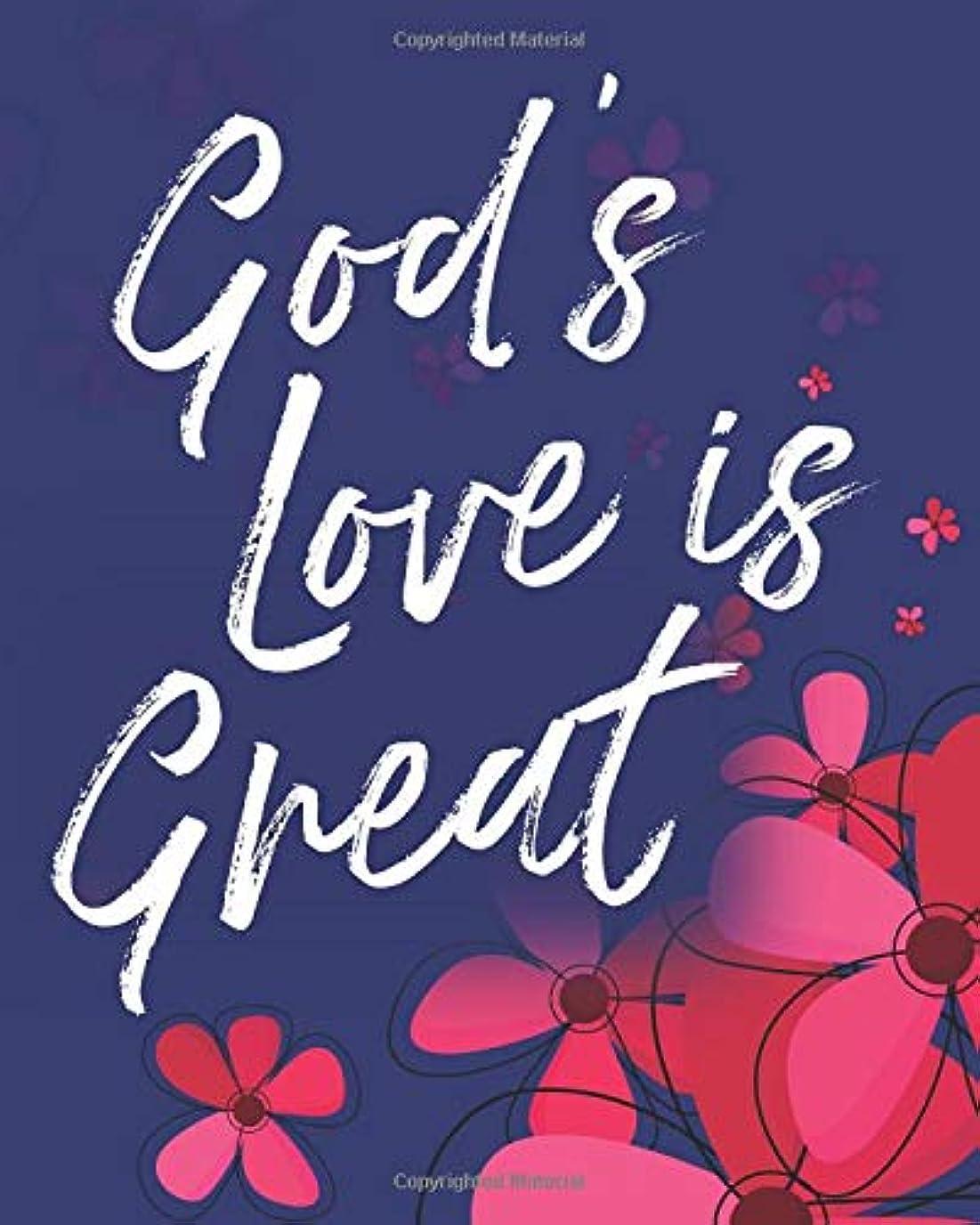 会社アーサー下God's Love Is Great: Write In Prayer Journal & Sermon Notes - Jesus & Joy for Girls, Teens & Women