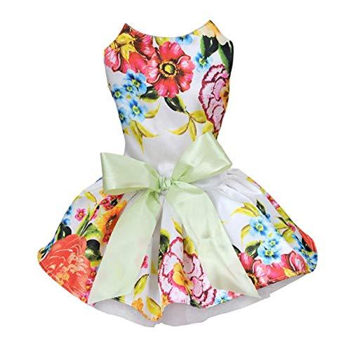 AGQG Hundekleidung weich atmungsaktiv Stretch Sommer Katze Weste grundlegende kleine Welpen Kostüm Hochzeitskleid Neue süße Prinzessin