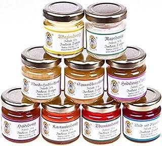9x 50g Honig Probierset | Geschenkset – naturbelassener Honig zum Kennenlernen, Kombination variiert von Imkerei Nordheide