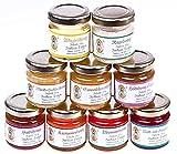 9x 50g Honig Probierset | Geschenkset – naturbelassener Honig zum Kennenlernen, Kombination variiert (von Imkerei Nordheide)