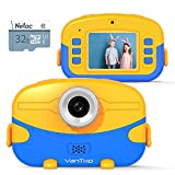 VanTop Kids' Digital Camera, 20 Million Pixels, 1080P HD Recording, Kids Camera, MP3, Continuous Photos, Selfie, Timer Shooting, Digital Camera, Toy Camera, 4x Zoom, Music, Photography, Video, 2 Inch IPS Screen, Present, Education, Unisex, Kids, Camera, USB Charging, Japanese Instruction Manual Included, Storage Bag Included, 32GB Memory Card Included