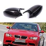 SLONGK Calotta specchietto retrovisore Carbonio, per BMW Serie 3 E92 E93 Posteriore 2006-2009 E90 E91 Pre-LCI 2005-2007 E81 E82 E87 E88