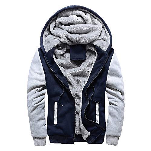 Romantic Sweatshirts Winterjacke Herren Schwarz Zipper Fleecejacke Hoodie Mode Sweatjacke Winter Verdickte Kapuzenjacke Freizeit Jacke Größe Mantel Warm Sportjacken Streetwear
