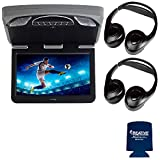 Audiovox Overhead Mobile Video MTGBAVX13 13.3' High Def System with DVD and HDMI with 2 Pair of Headphones