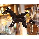 Candlestock Wooden Animal Hanging Wind...