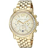 Michael Kors Women's Baisley Quartz Watch with Stainless-Steel-Plated Strap, Gold, 21.5 (Model: MK5982)