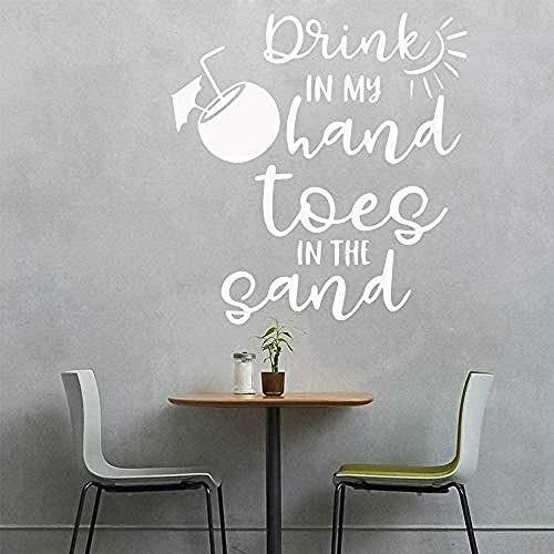 Muursticker,Warme drank in mijn hand Home Decor Vinyl Slaapkamer Kinderkamerdecoratie voor Kinderkamers DIY Woondecoratie 43x69cm
