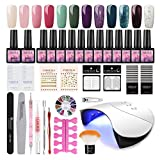 Saint-Acior Gel Nail Collection 36W LED/UV Curing Lamp 12pcs Gel Nail Polish Set
