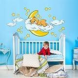 kina R00040 Adesivo murale per Bambini - Orsetto Sogni d'oro - Misure...