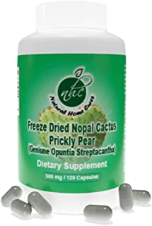 Super Concentrated/High Potency (Freeze Dried) Nopal Cactus (Prickly Pear) Capsules with Immune Booster Sup...