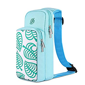 TNP Switch Bag Travel Bag Compatible with Nintendo Switch & Switch Lite - Shoulder Bag Travel Case Cute Portable Carrying Backpack for Animal Crossing Games Accessories Console & Dock Charger - Blue