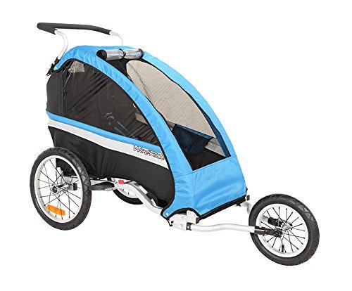 WeeRide Classic Lauf-Kinderwagen, blau, Einzel
