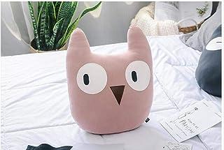 Wesmile Almohada de Viento nórdica Net Red Almohada de Dibujos Animados Lindo ins explosión Cat Owl decoración de la habitación de los niños cojín sofá