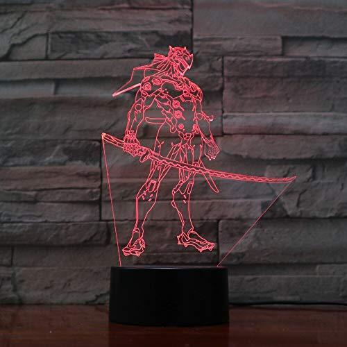 jiushixw 3D acryl nachtlampje met afstandsbediening kleur veranderende lamp foto anime-afbeelding schaduw van IKEA tafellamp glas