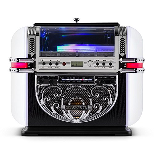 Ricatech RR700 Retro - Jukebox Diseño Años 50 (Reproductor CD, Radio Am/FM,...