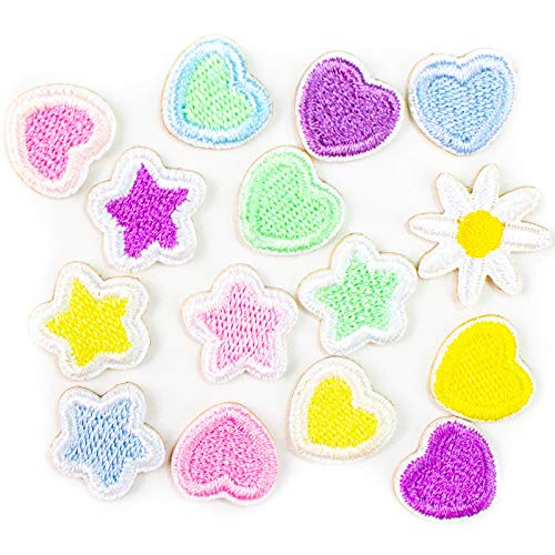 AGFXN - jiajutao 15 Pcs Iron On Patches Embroidery Applique Patches Stickers for Clothing, Backpack, Caps, Repair The Hole Stick