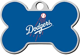 SHSH Los Angeles -Dodg-ers Baseball Custom pet ID tag Dog Tags Pet Brand Personalized Customization ID Bone-Shaped Double-Sided Printing Logo Symbol Phone Number