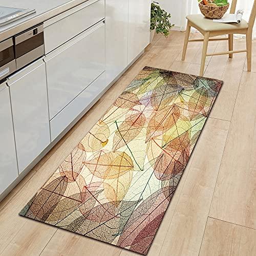 HLXX Flower series door mats non-slip door mats home decoration carpet floor mats for kitchen and living room A3 50x160cm