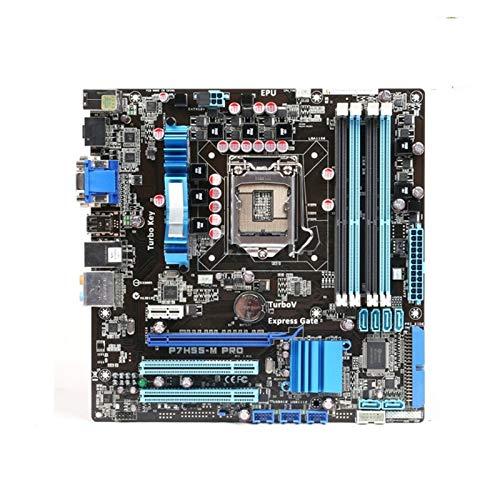 Tablero de reemplazo de computadora Socket LGA 1156 Fit For PARA ASUS P7H55-M PRO MADERA DE DESKTOP H55 CORE I7 I5 I3 I3 16GB DDR3 UATX PLATABONE LGA 1156 SATA II Placa base de computadora de escritor