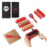 Sushi Making Kit, Aya Sushi Maker 2, Online Video Tutorials Complete with Sushi Knife & Bamboo Mat, 12 Piece Sushi Roll Maker Set, Easy and Fun Sushi Kits Professional, Sushi Rolls