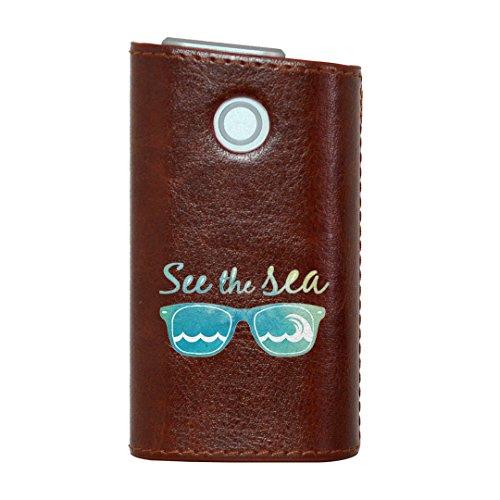 glo グロー グロウ 専用 レザーケース レザーカバー タバコ ケース カバー 合皮 ハードケース カバー 収納 デザイン 革 皮 BROWN ブラウン 海 ファッション サングラス 010528