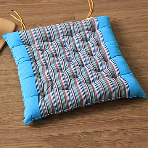 MERCB Cojín cuadrado para silla cojines de silla de tela suave a rayas, cómodo para sillas de comedor, cocina, sala de estar, patio, jardín, interior y exterior, paquete de 4